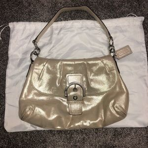 Coach Handbag - Gold Metallic